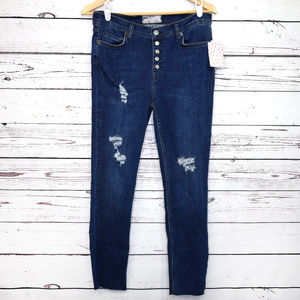 Free People | NWT distressed Reagan jeans crop